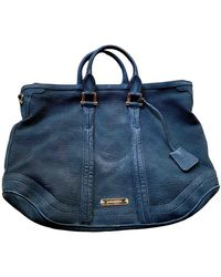 Burberry Leather Handbag - Blue