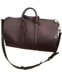 Louis Vuitton - Keepall Leather Travel Bag - Lyst