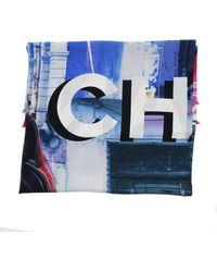 Chanel \n Multicolour Silk Scarf - Blue