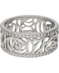 Chanel Anello in Oro bianco Camélia - Metallizzato