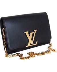 Louis Vuitton Louise Leather Handbag - Black