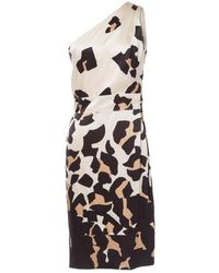 Roberto Cavalli \n Ecru Silk Dress - Multicolor