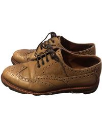 Brunello Cucinelli Leather Lace Ups - Brown