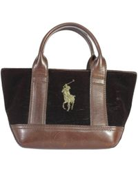 Lyst - Ralph Lauren Collection Large Fabric Bag in Black 8e77a386a8
