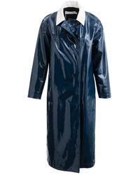 Dior Blue Leather Coat