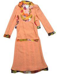 Chanel - Pre-owned Orange Tweed Jackets - Lyst