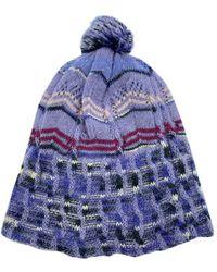 Missoni Sombrero en lana violeta - Multicolor