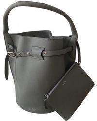 Celine Big Bag Leather Handbag - Grey