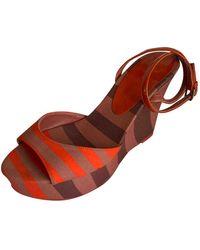 Burberry Cloth Sandals - Multicolour