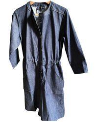 Vanessa Seward Blue Cotton Jumpsuits