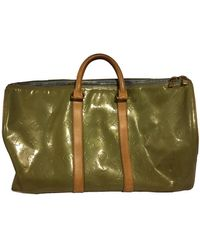 Louis Vuitton Patent Leather Weekend Bag - Green