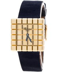 Chopard Ice Cube Blue Yellow Gold Watch