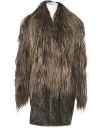Marni Beaver Coat - Brown
