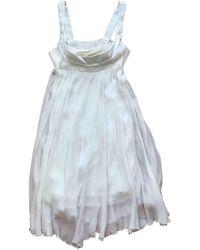 Maje Vestido midi de Seda - Blanco