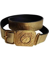 Christian Lacroix Leather Belt - Metallic