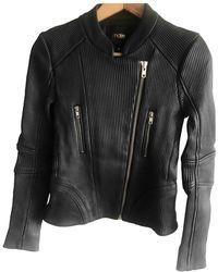 Maje Leather Biker Jacket - Black