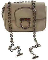 Ferragamo - White Leather Handbag - Lyst