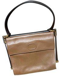 Roger Vivier Mini Sac Viv Sellier Leather Handbag - Brown
