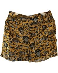 Étoile Isabel Marant Shorts in cotone giallo