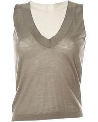 Marni - Grey Cashmere Top - Lyst