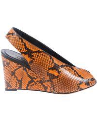 Celine Leather Heels - Black