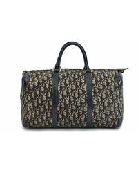 Dior Navy Cloth Travel Bag - Blue