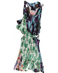 Thakoon Silk Mini Dress - Green