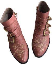 Chloé Susanna Pink Leather