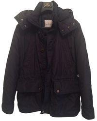 Moncler - Blue Polyester Jacket - Lyst