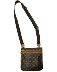 Louis Vuitton Borsa in tela marrone