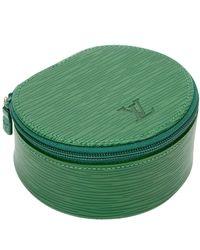 Louis Vuitton Pochette in pelle verde