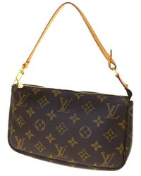 Louis Vuitton Pochette in tela marrone Pochette Accessoire