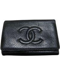 Chanel Llavero de Cuero - Negro
