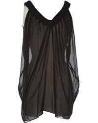 2382ef7ea93a0f Lyst - Chloé Silk Camisole in Black