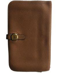 Hermès Dogon Leather Purse - Brown