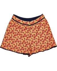 M Missoni \n Orange Synthetic Shorts