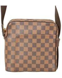 Louis Vuitton Bolsa de mano en lona marrón