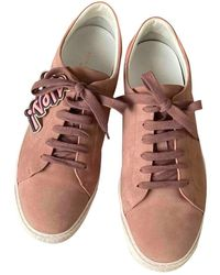 Anya Hindmarch Pink Suede Sneakers