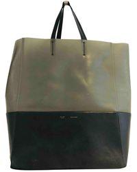 Celine Cabas Leder Handtaschen - Schwarz