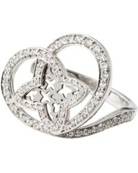 Louis Vuitton - White Gold Ring - Lyst