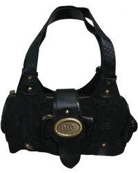 Dolce & Gabbana Leinen Handtaschen - Schwarz
