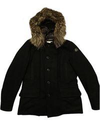 Moncler Cazadora Fur Hood de Mapache - Negro