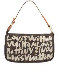 Louis Vuitton Pochette Pochette Accessoire en Toile Marron - Multicolore