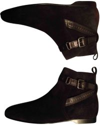 d2c5f7a10110 Lyst - Louis Vuitton Leather Ankle Boots in Black for Men