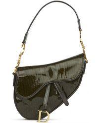 Dior - Saddle Patent Leather Handbag - Lyst 6be8c67a5bdff