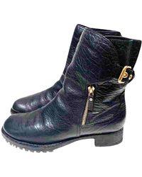 Louis Vuitton \n Black Leather Boots