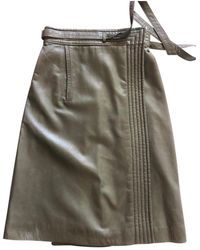 Dior Leather Mid-length Skirt - Green