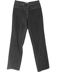 Chanel Straight Jeans - Gray