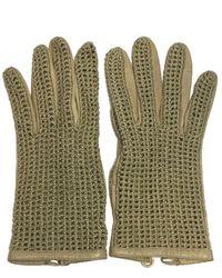 Chanel Leder Handschuhe - Mehrfarbig