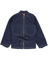 Ganni Vest \N en Coton Marine - Bleu